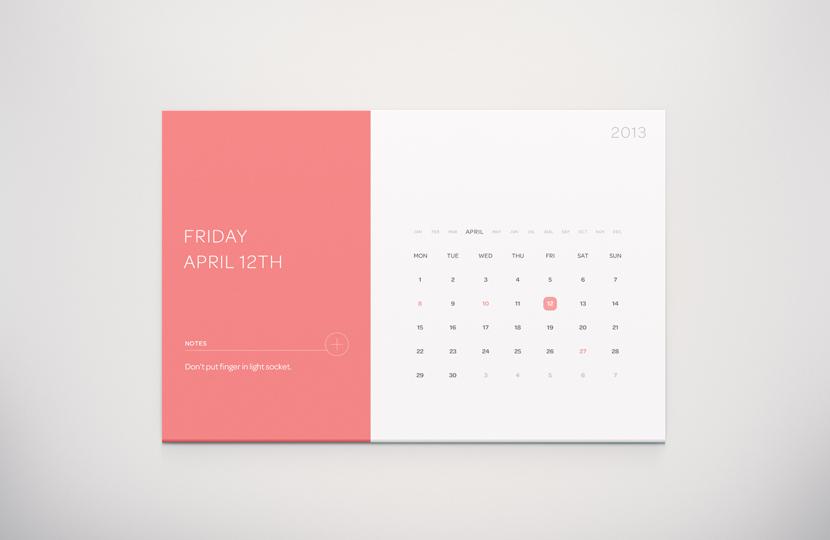 Freebie calendar